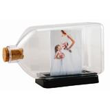 Botella con foto y tapa de corcho