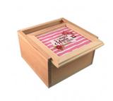 Caja de madera natural personalizada